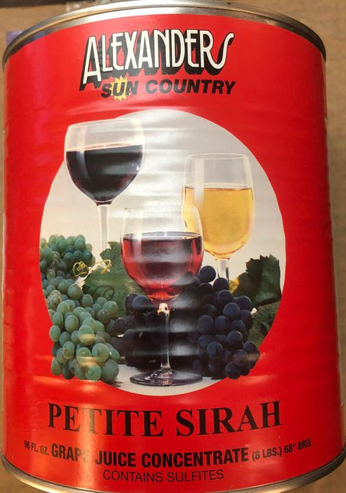 Petite Sirah Wine Concentrate - 96 oz