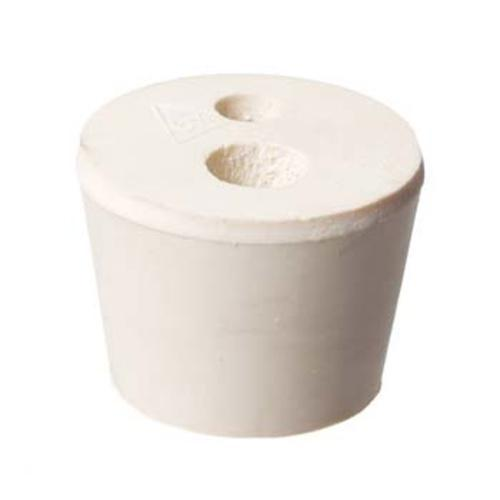 Rubber Stopper #6 1/2 with 2 holes