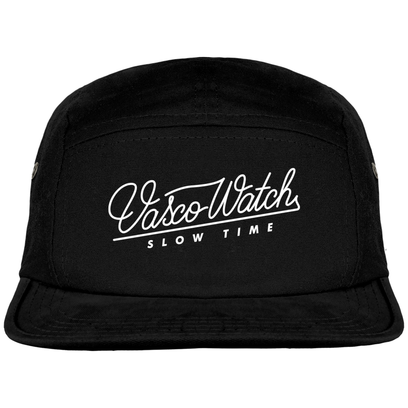 "Casquette 5 panels et broderie ""Slow Time"""