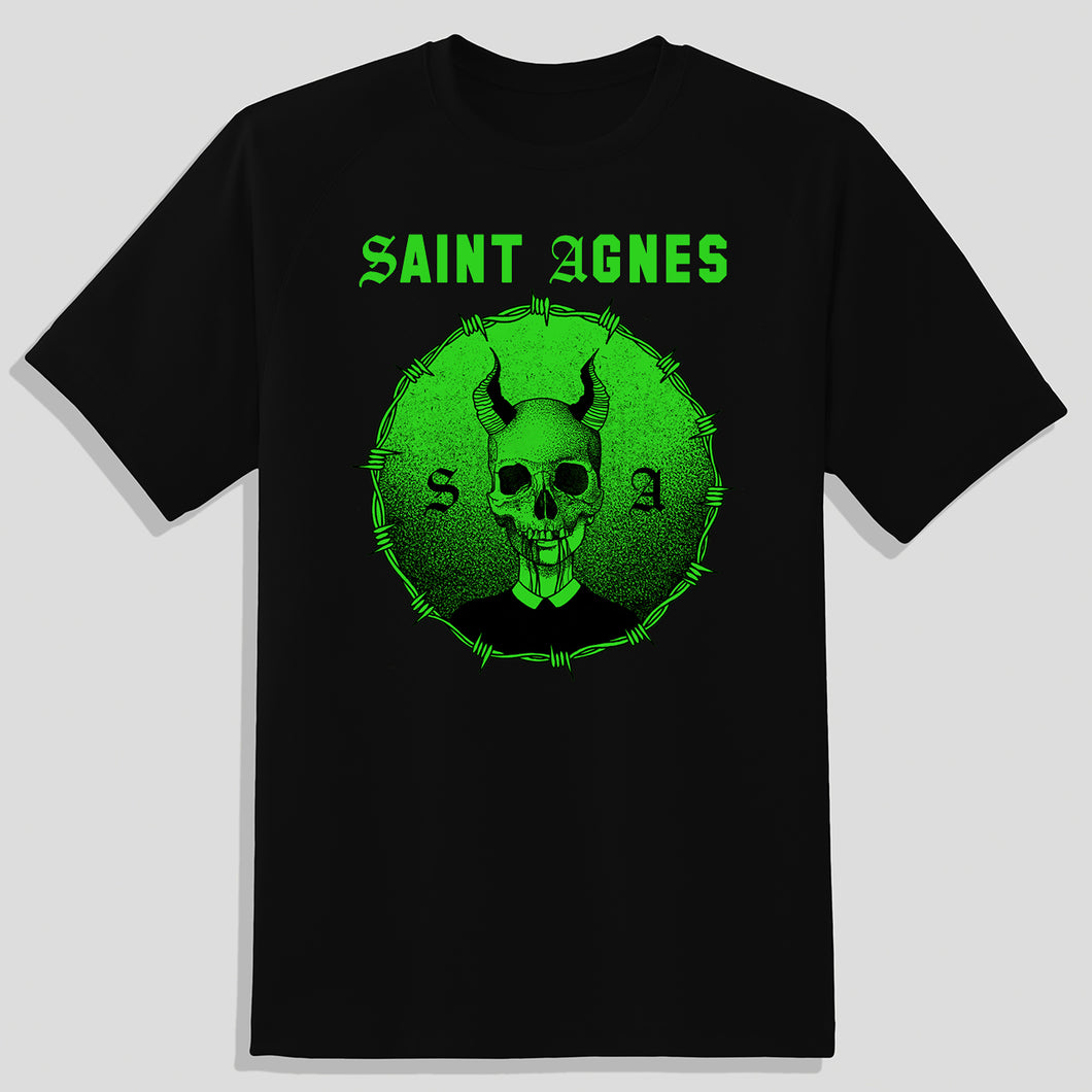 Meanest Kid T-Shirt - Black with Green