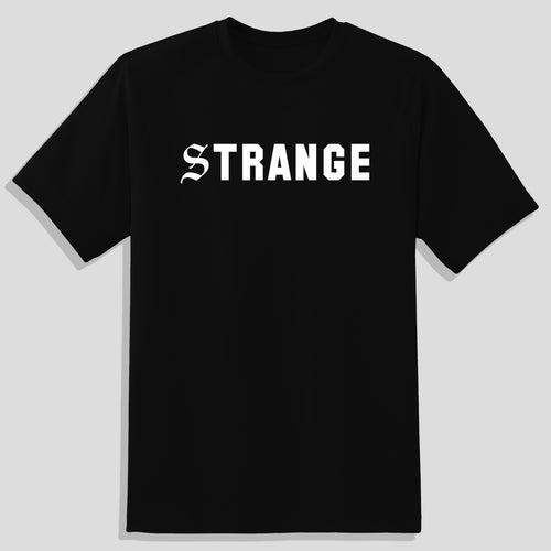 Strange T-Shirt - Black with White
