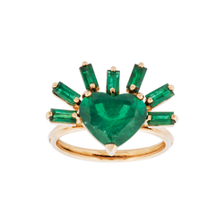 On Fire Emerald Ring