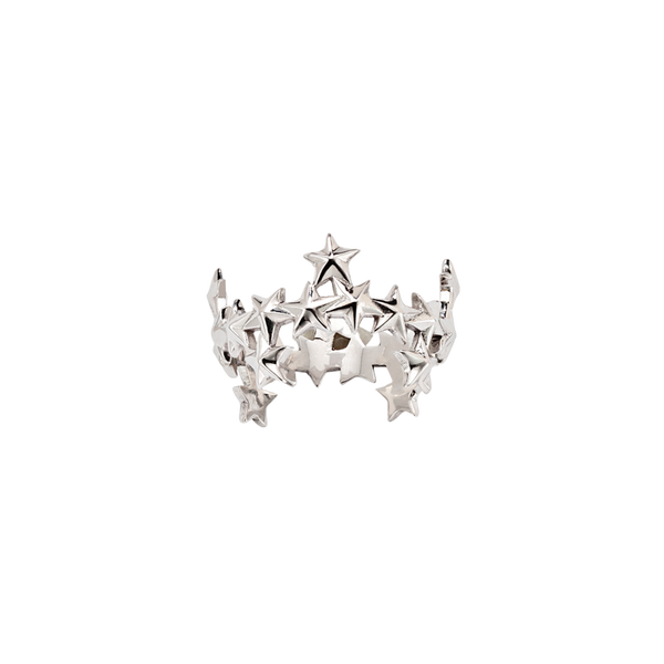 A stars motif ring in 18 karat white gold by Solange Azagury-Partridge