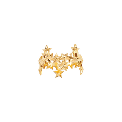 A stars motif ring in 18 karat yellow gold by Solange Azagury-Partridge