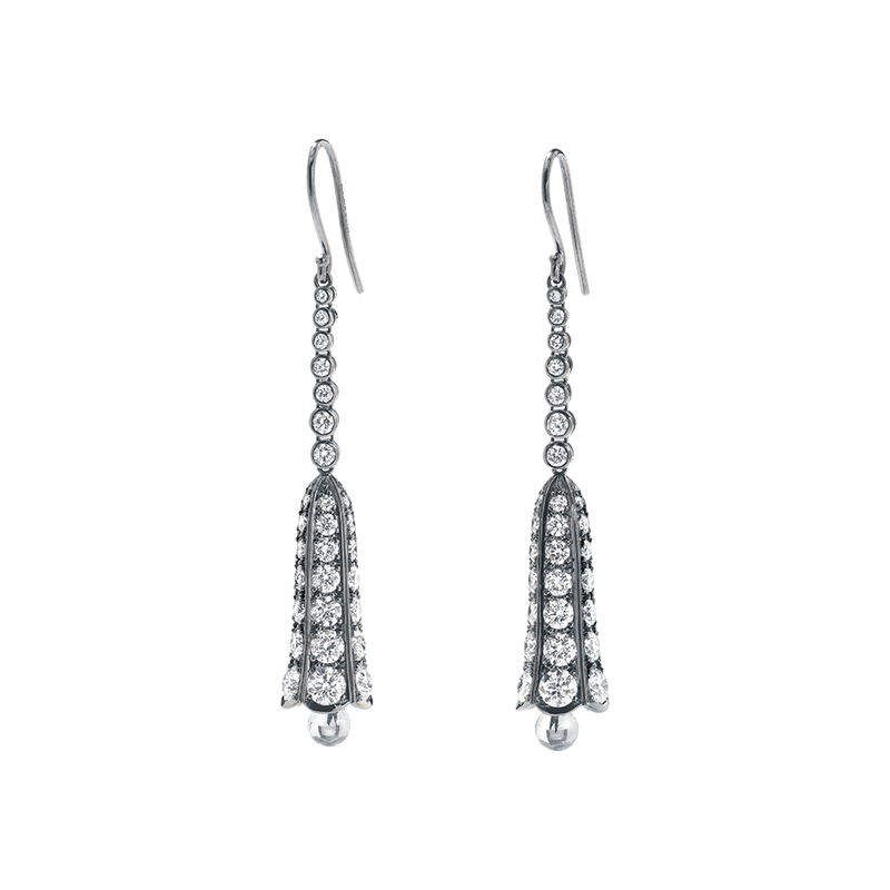 Diamond Bluebell Earrings