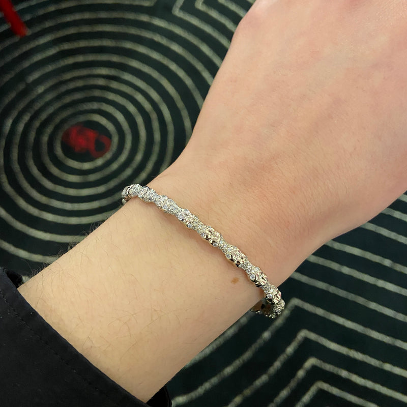 Diamond Pave Bones Bangle