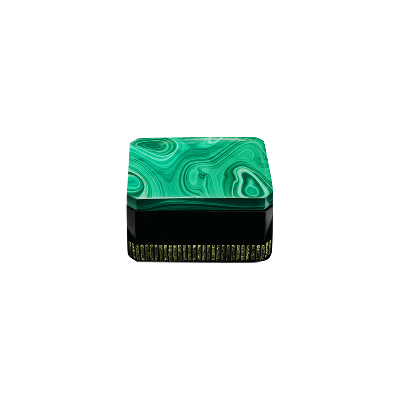 A malachite and onyx ashtray by Solange Azagury-Partridge