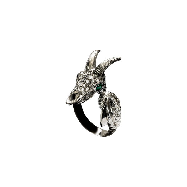 Capricorn Diamond Ring
