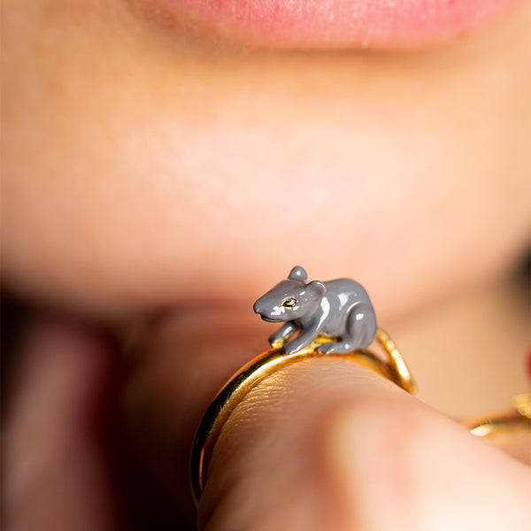 Chinese Zodiac Rat Ring