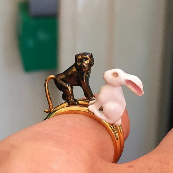 Chinese Zodiac Rabbit Ring