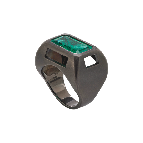 Chromeo Emerald Ring