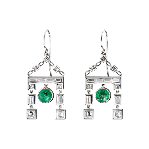 Cleopatra Emerald Earrings