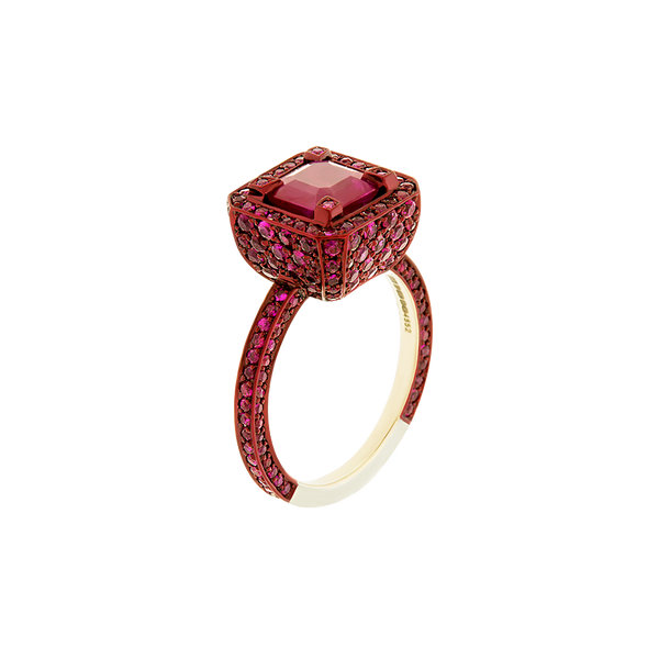 Cup Baby Ruby Ring