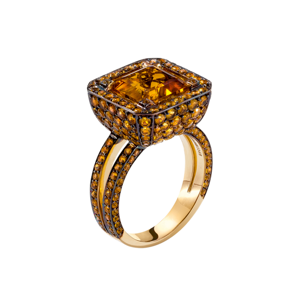 Cup Citrine Ring