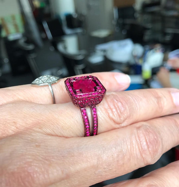 Cup Ruby Ring