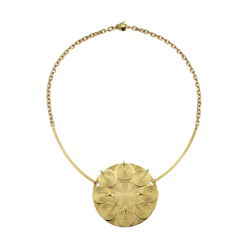 An engraved necklace in 18 karat yellow gold by Solange Azagury-Partridge