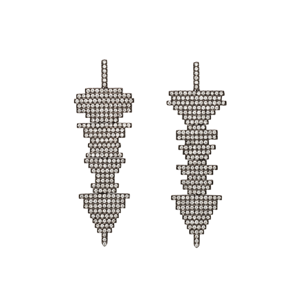 Soundwave Pave Earrings