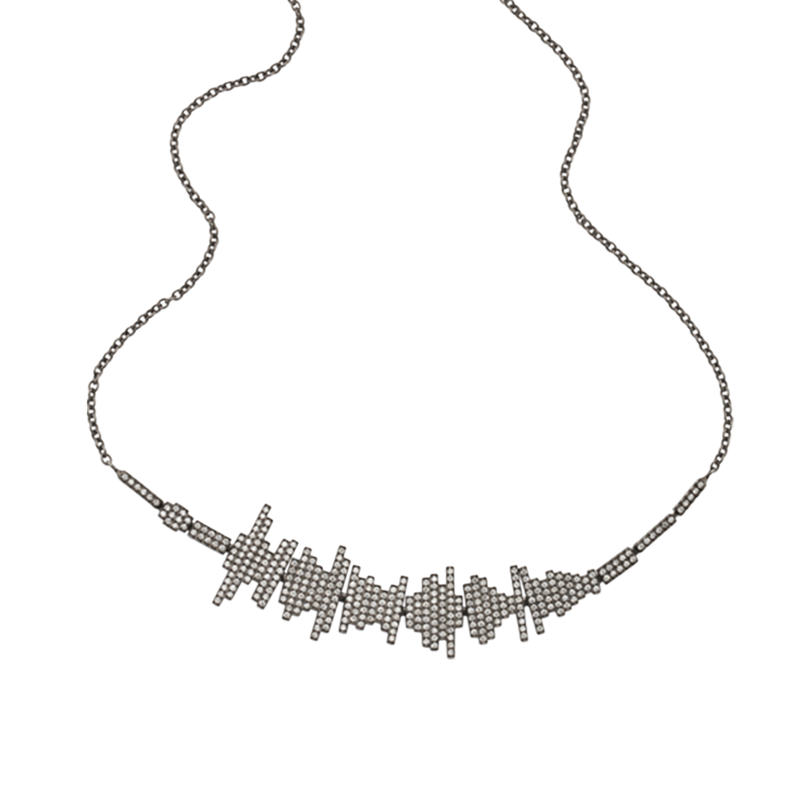 Soundwave Pave Necklace
