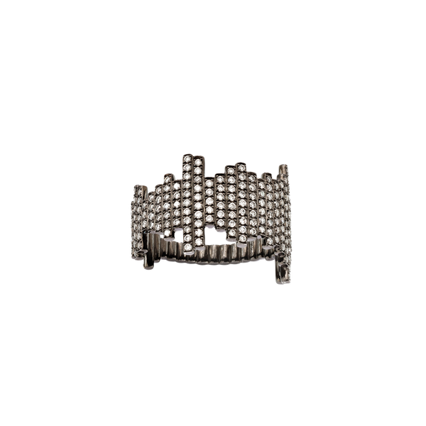 Soundwave Pave Ring Bespoke