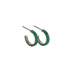 Eternity Small Emerald Earrings