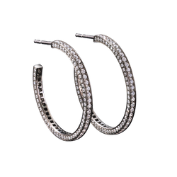 Eternity Large Diamond Earrings