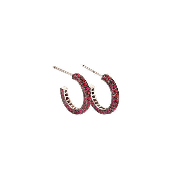 Eternity Small Ruby Earrings
