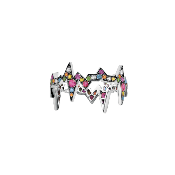 Heartbeat Ring Rainbow