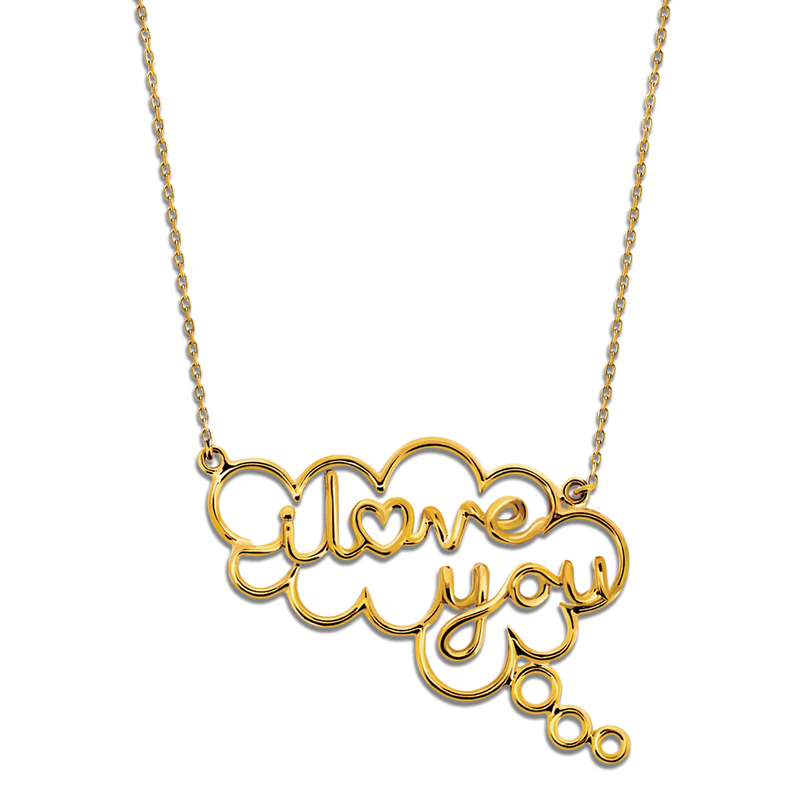 Speech Bubble I Love You Pendant