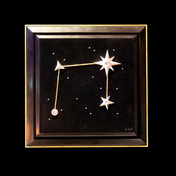 Libra Zodiac Constellation Wall Plaque