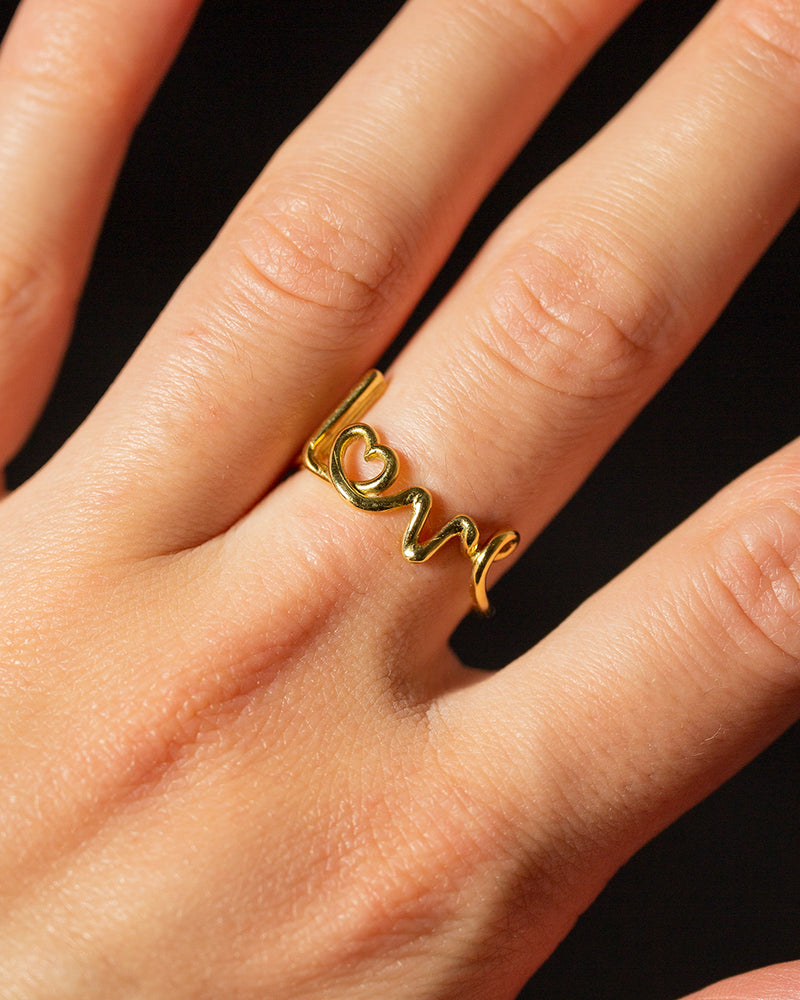 Love Written Ring