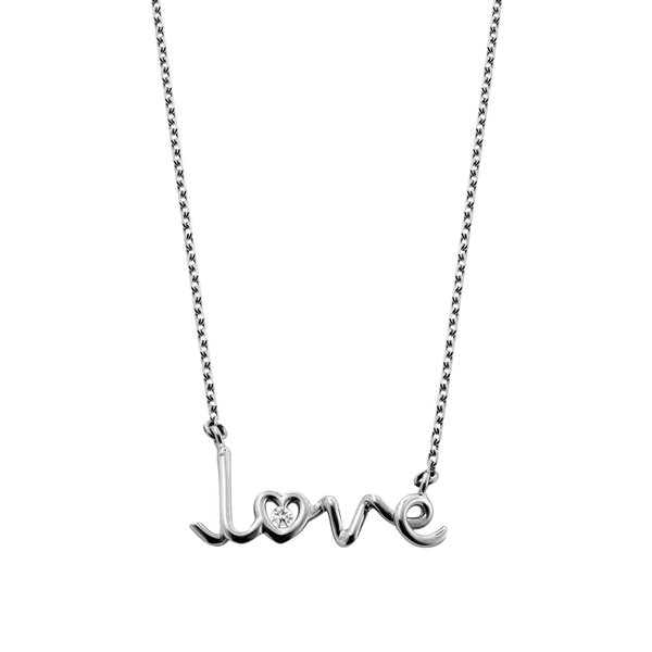 Love Written Diamond Pendant
