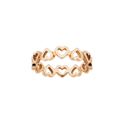 A heart motif band ring in 18 karat yellow gold by Solange Azagury-Partridge