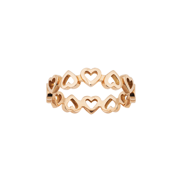 Love Band Heart Ring