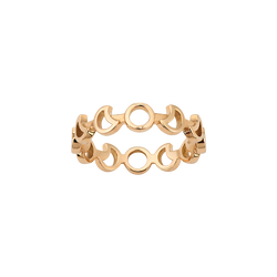 A moon motif band ring in 18 karat yellow gold by Solange Azagury-Partridge