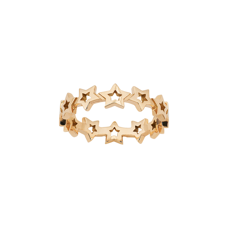 A star motif band ring in 18 karat yellow gold by Solange Azagury-Partridge