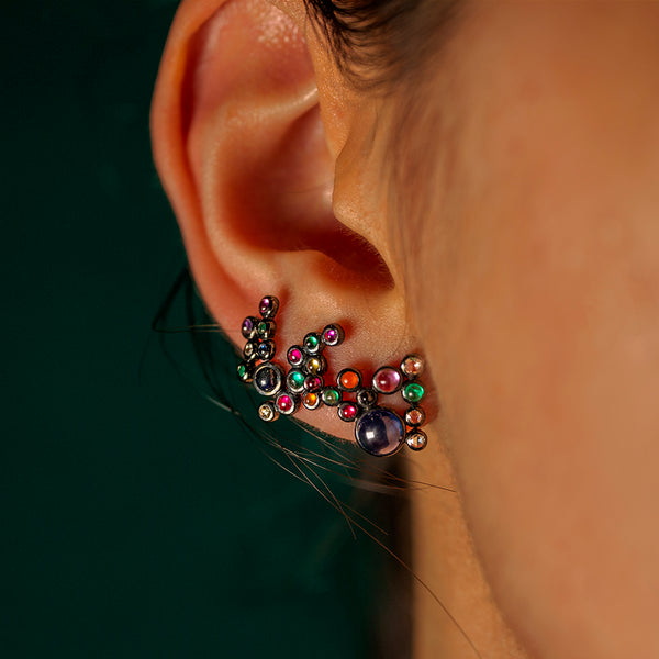 Magic Number 10 Cabochon Earring