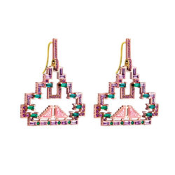 Mayan Pave Earrings