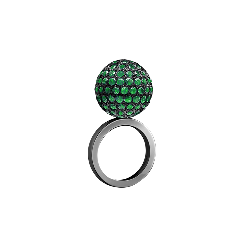 Mirror Ball Emerald Ring