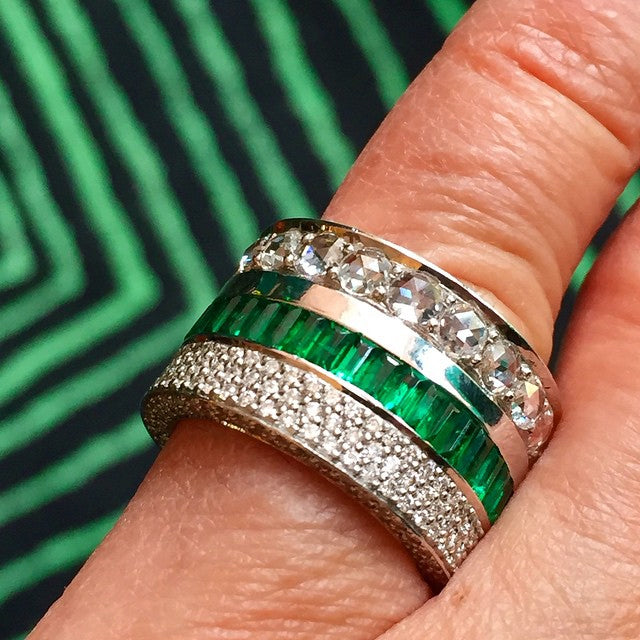 Mish Mash Emerald Diamond Ring