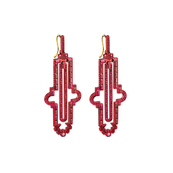 Notre Dame Ruby Earrings