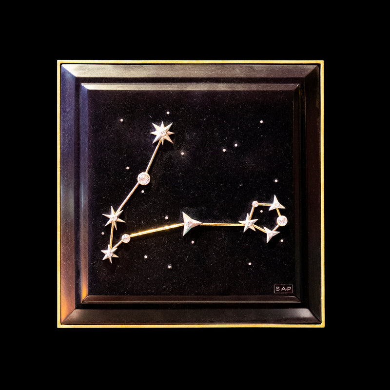 Pisces Zodiac Constellation Wall Plaque