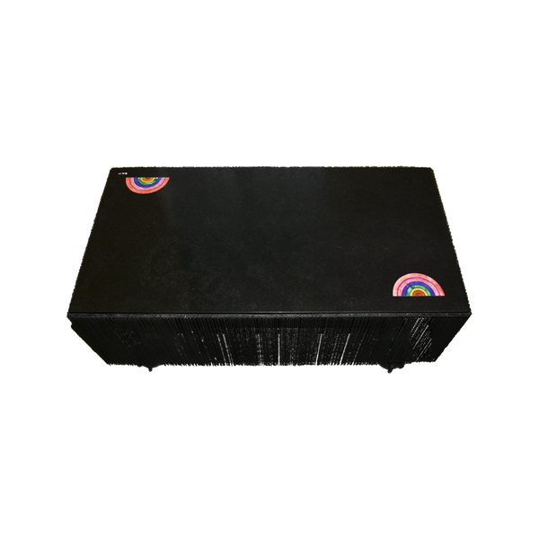 A rectangular fringe coffee table inlaid with semi-precious gemstones by Solange Azagury-Partridge