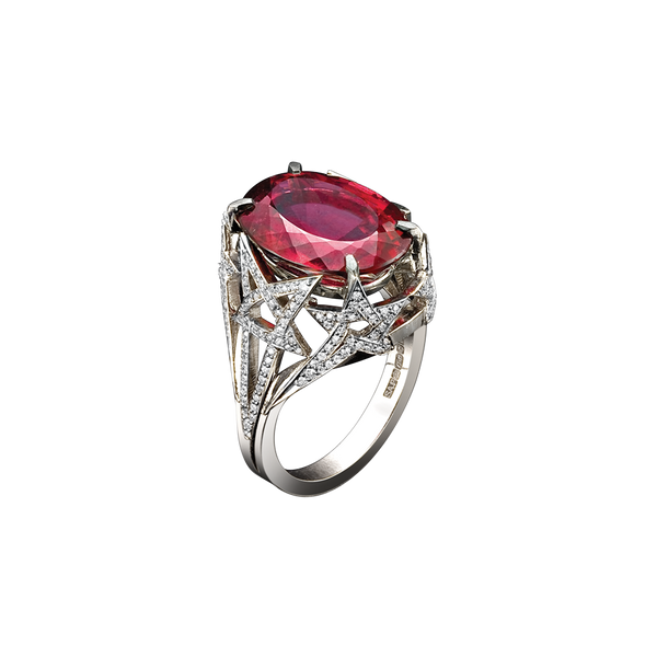 Shooting Star Rubellite Ring