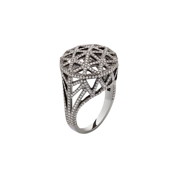 Skeleton Round Diamond Ring