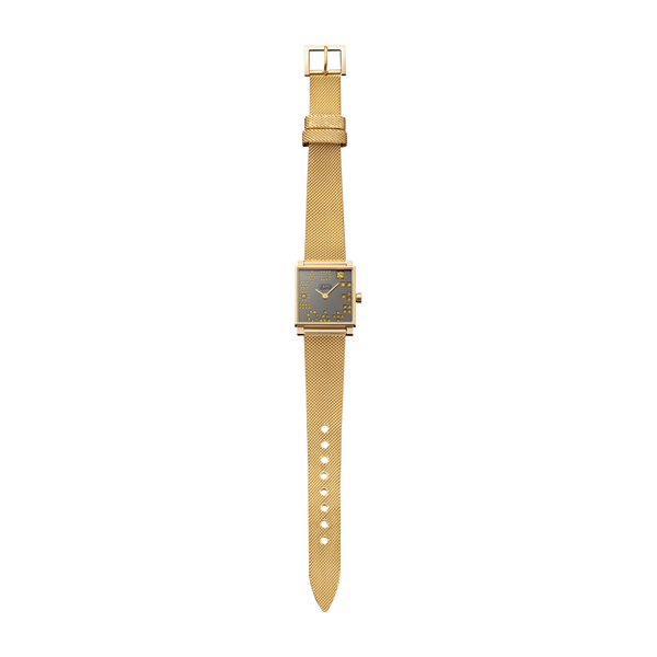 Squares Yellow Diamond Watch