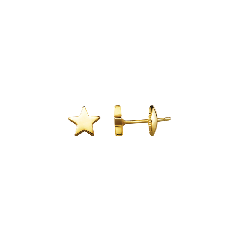 A pair of star motif stud earrings in 18 karat yellow gold by Solange Azagury-Partridge