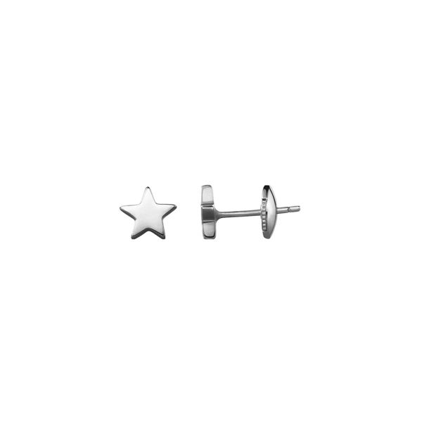 A pair of star motif stud earrings in 18 karat white gold by Solange Azagury-Partridge