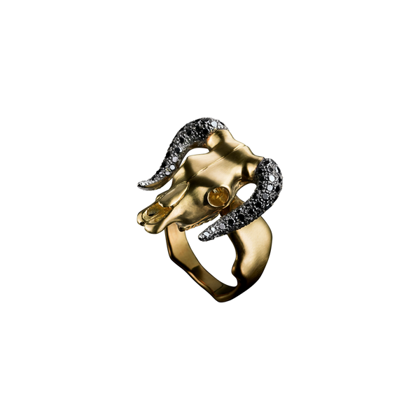 Taurus Black Diamond Ring