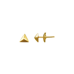 A pair of triangle motif stud earrings in 18 karat yellow gold by Solange Azagury-Partridge