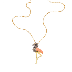 A lacquer hybrid seahorse flaming necklace in 18 karat yellow gold by Solange Azagury-Partridge